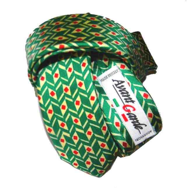 scarpe originali nuovo di zecca grande liquidazione Cravatte per bambini cravatta verde di seta con disegni anni ...
