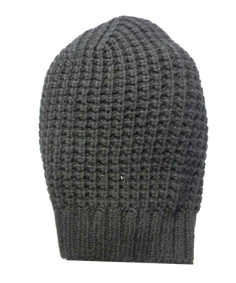 Cappello uomo donna berretto lungo nero rasta misto lana lavorazione nido  d ape 4f6575ca65b5
