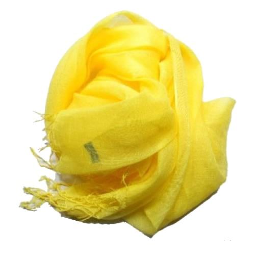 negozio online d9a73 b6569 Sciarpa stola di lino unito unita uo do gialla giallo