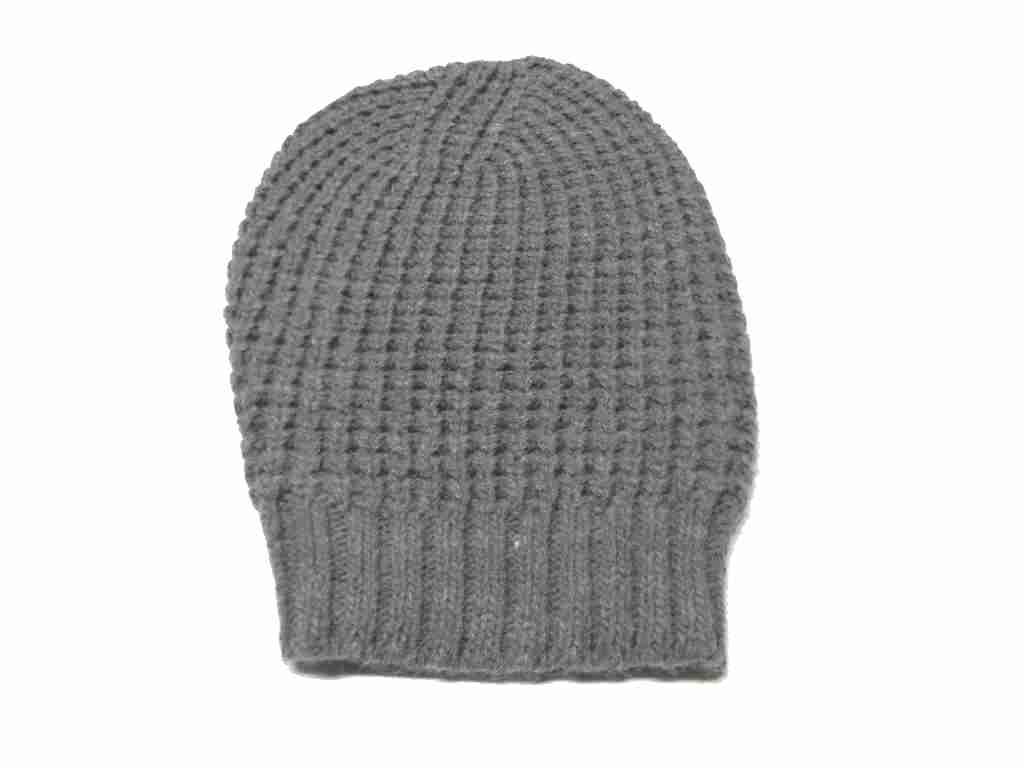 Cappello uomo donna berretto lungo grigio rasta nido d ape misto lana b06bd77f92ea