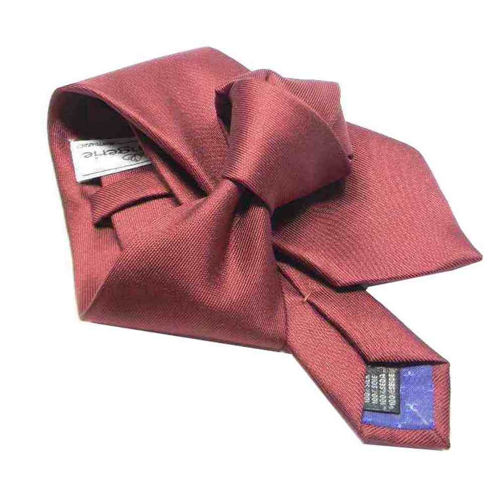 Cravatta uomo rosso bordeaux seta saglia verticale rossa scura vari misure  slim 3d513b3a0239