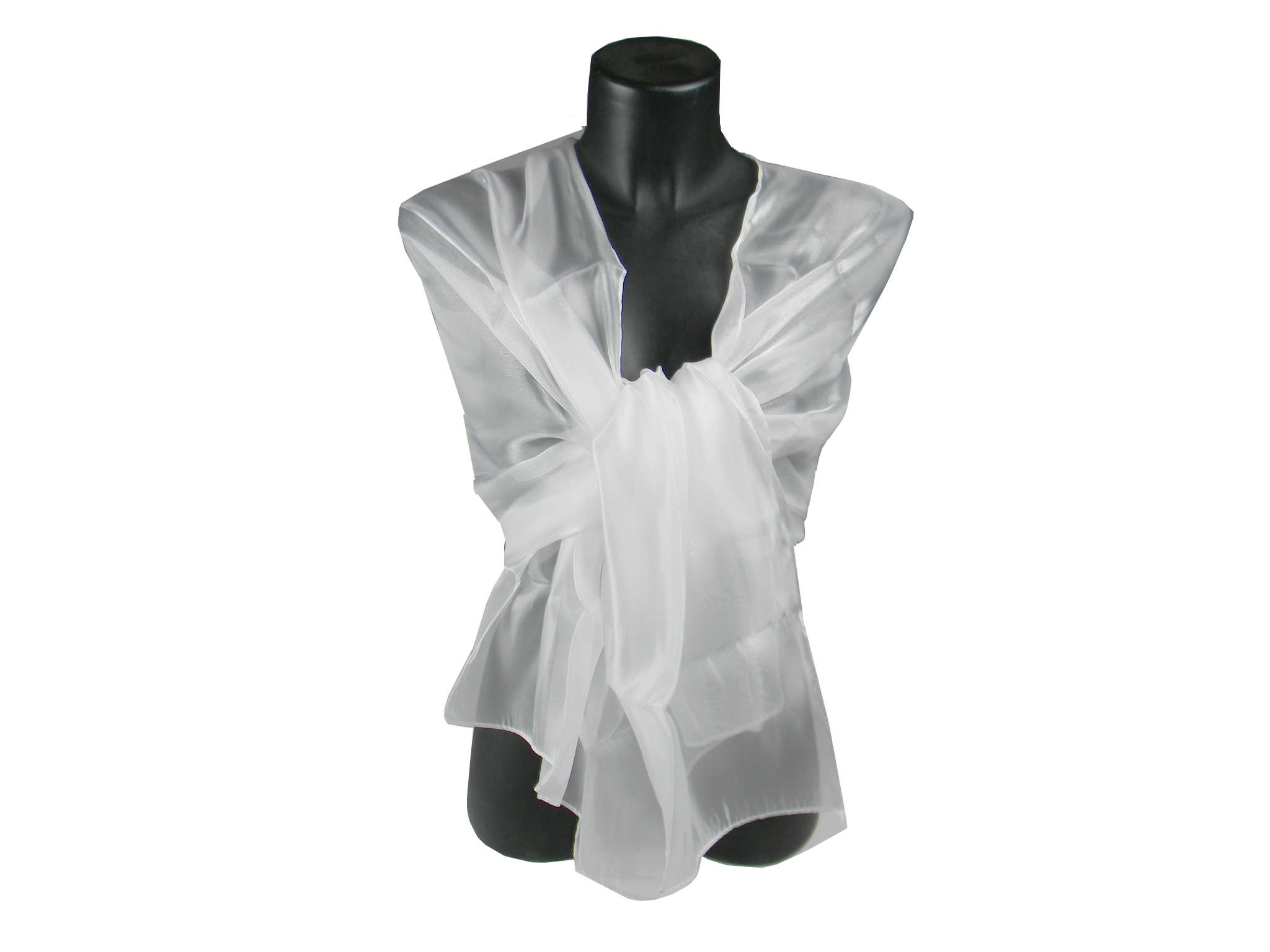 meet 6d3ba f7d66 Stola bianca da cerimonia - coprispalle e scialle in raso