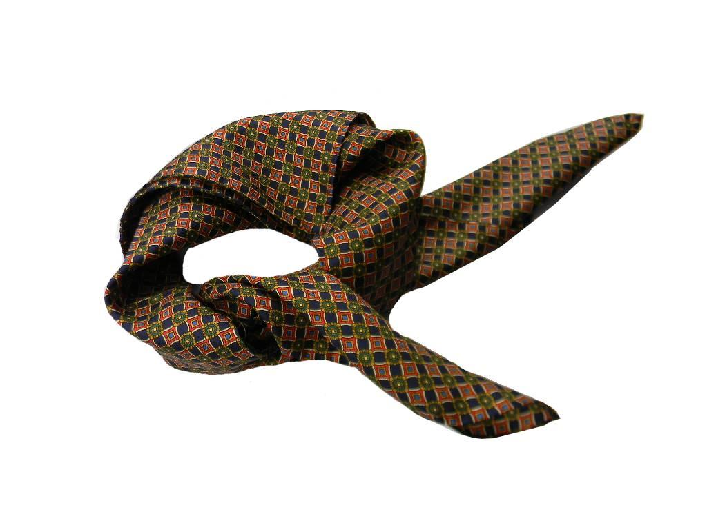 Foulard uomo man fazzoletto da collo seta stampata verde dis rosso beige ccc8c90f563