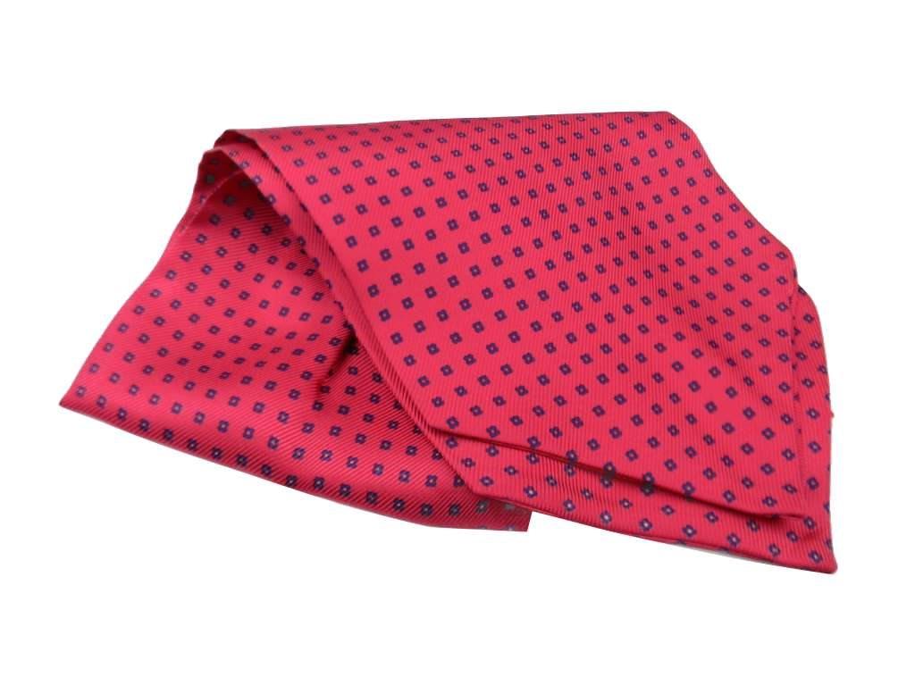 Ascot Uomo Cashe Col Classic Flow Seta Foulard Uomo Fucsia Pink Fluo