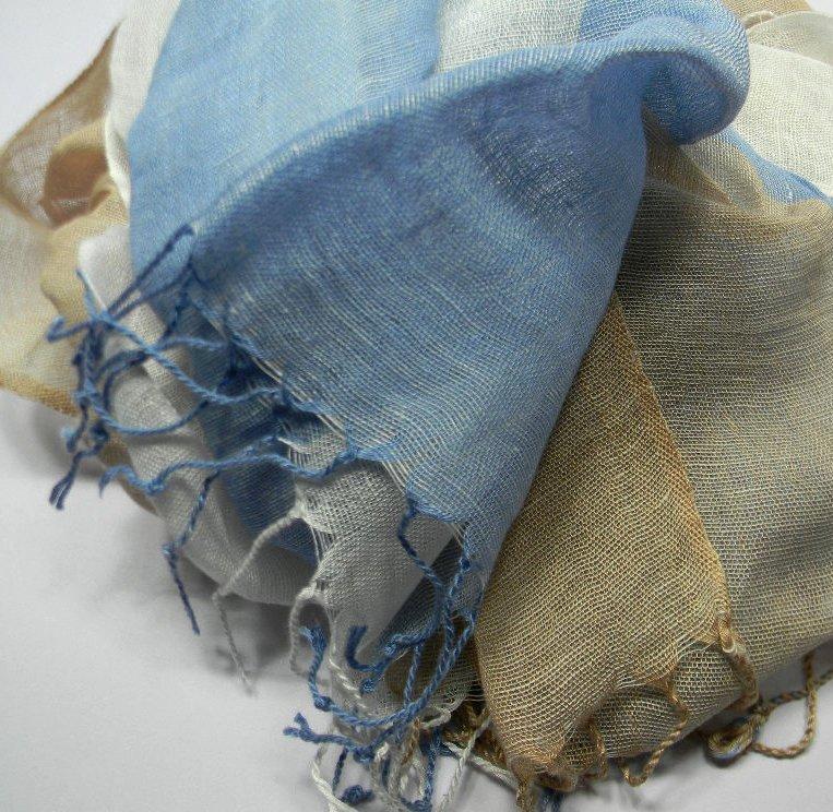 SCIARPA a righe UOMO lino VARI COLORI blu bianca rossa beige azzurra NAT verdino