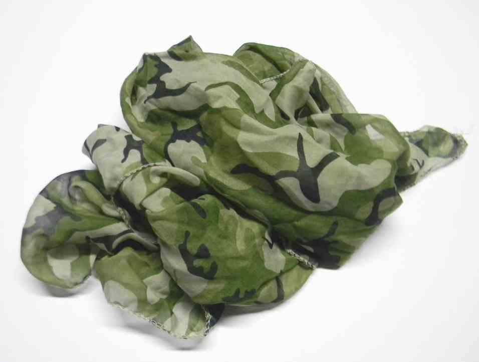 SCIARPA camouflage VERDE sciarpe mimetiche Verdi foulard camouflage fluo GREEN