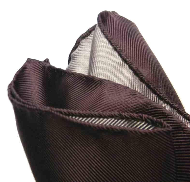 Fazzoletto da uomo in seta intrecciata con tasca quadrata e spilla da bavero per matrimonio DiBanGu