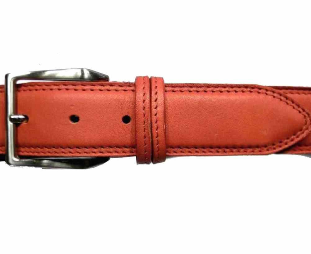 prezzo competitivo 71a08 b111e Dettagli su CINTURA ROSSA UOMO PELLE Made in ITALY NOVITA CINTURE leather  red BELT TOP1