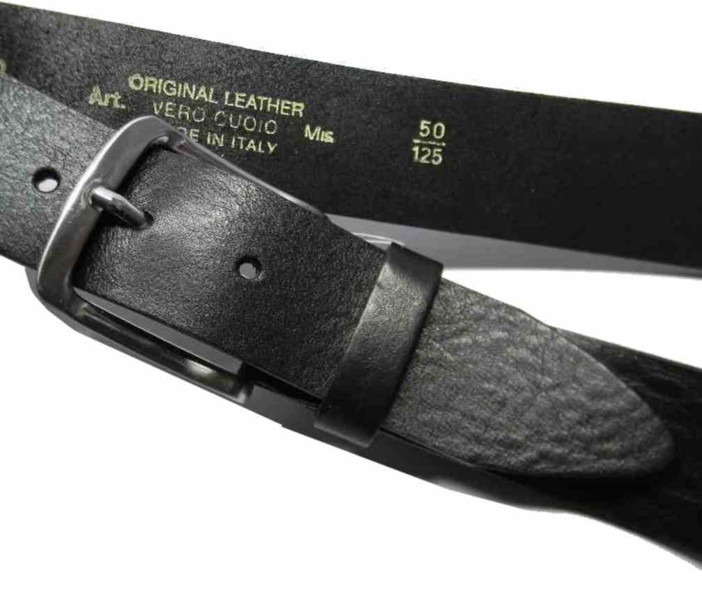 rivenditore all'ingrosso 588f8 1e39e Dettagli su CINTURA UOMO pelle NERA ALTA QUALITA made in Italy BLACK  cinturone par hombre