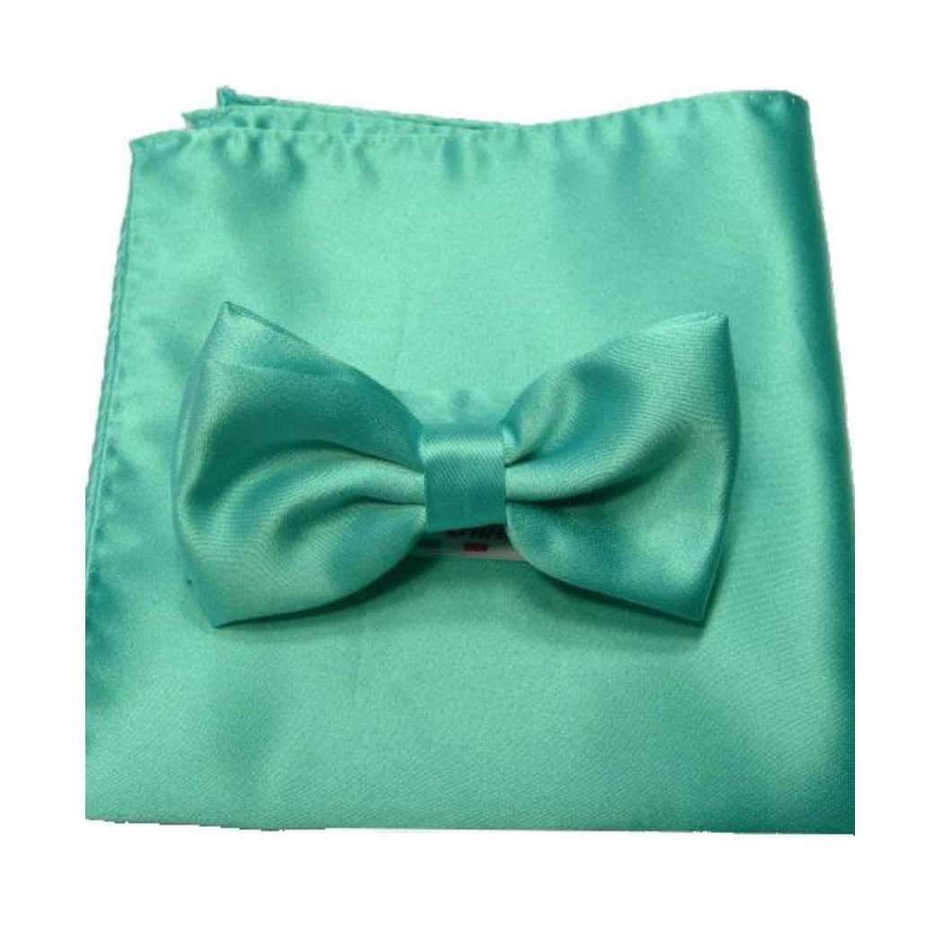 920f811a16 Completo papillon bow tie cravatta a farfalla verde verdino e fazzoletto m  italy