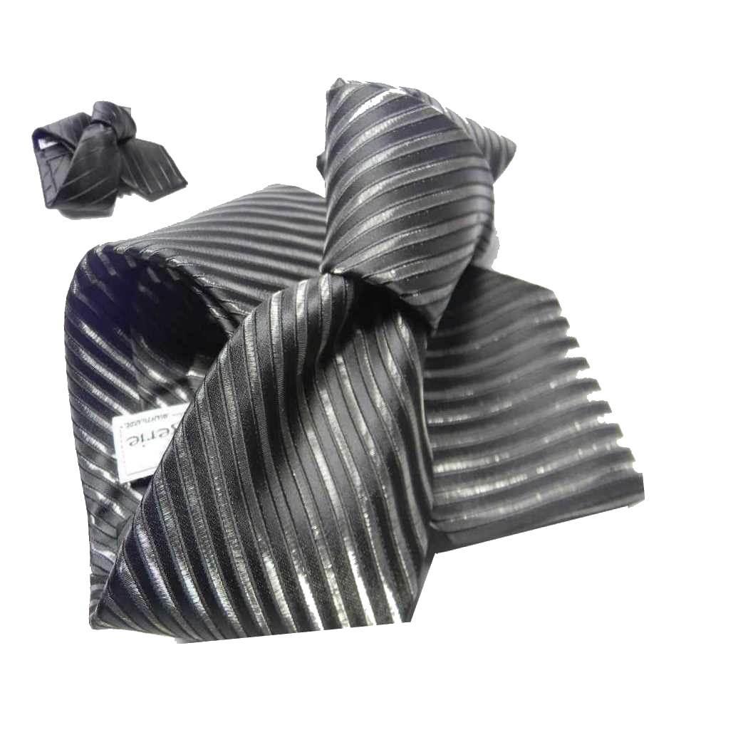 migliori prezzi più colori vasta gamma CRAVATTA nera a righe strette e larghe lucide cravatte da sera ...