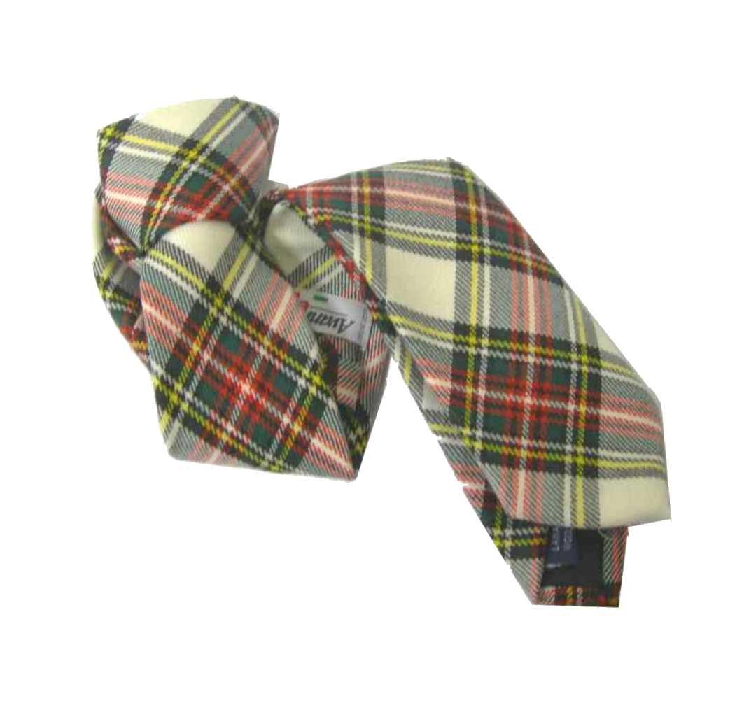 l'atteggiamento migliore eccezionale gamma di stili e colori comprare on line Dettagli su CRAVATTA A QUADRI bianca LANA wool TARTAN TIE BIANCO Nero Rosso  Cravatte M Italy