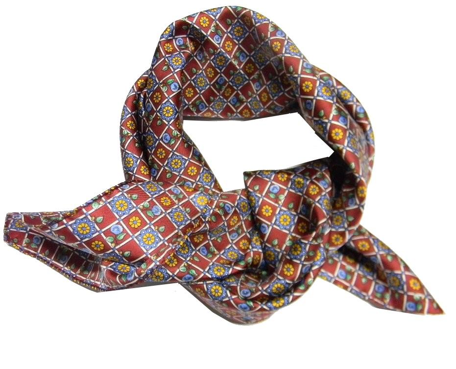 Foulard uomo di seta fazzoletto da collo bordeaux silk made in italy varie  fanta 5529e9aad28