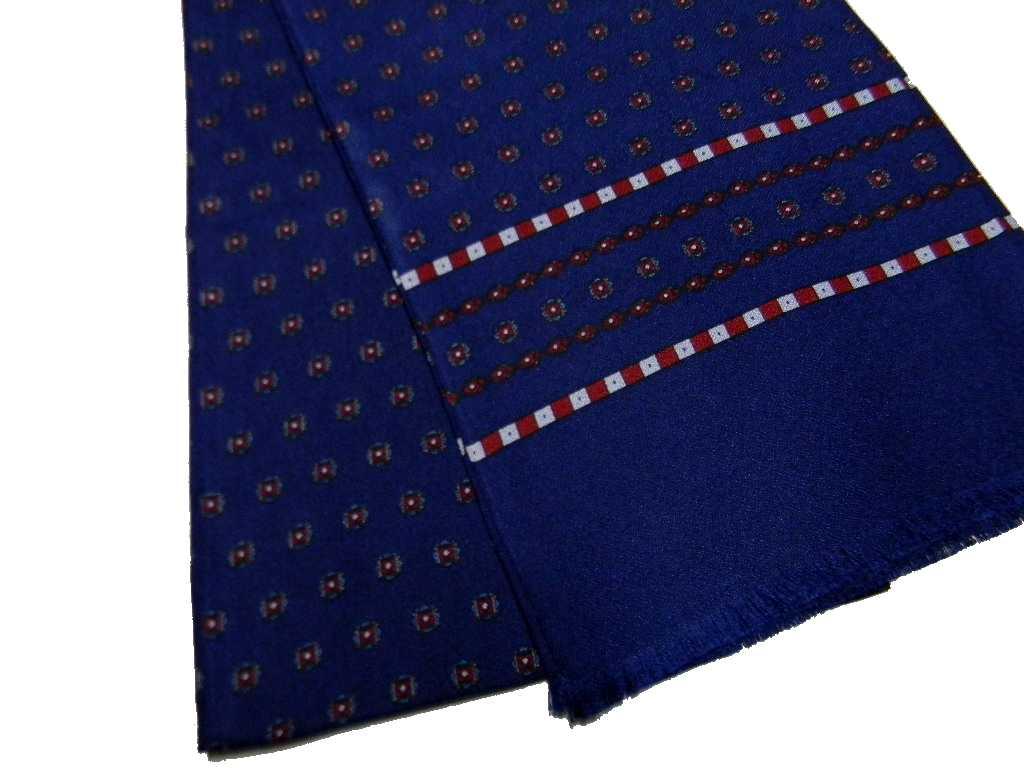 vendita calda online 0955a 690a8 Sciarpe seta uomo eleganti blu doppiata made italy top class ...