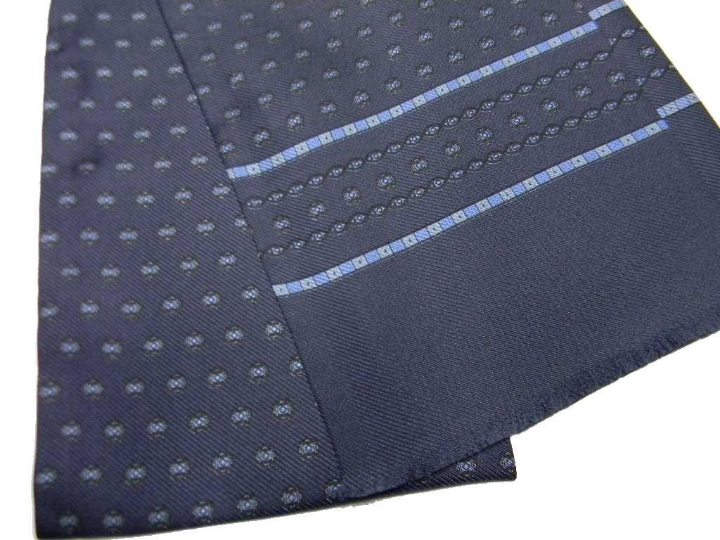Sciarpe seta da giacca uomo elegante tubolare grigio scuro disegni azzurri  beige 4e2ec50bc9b2