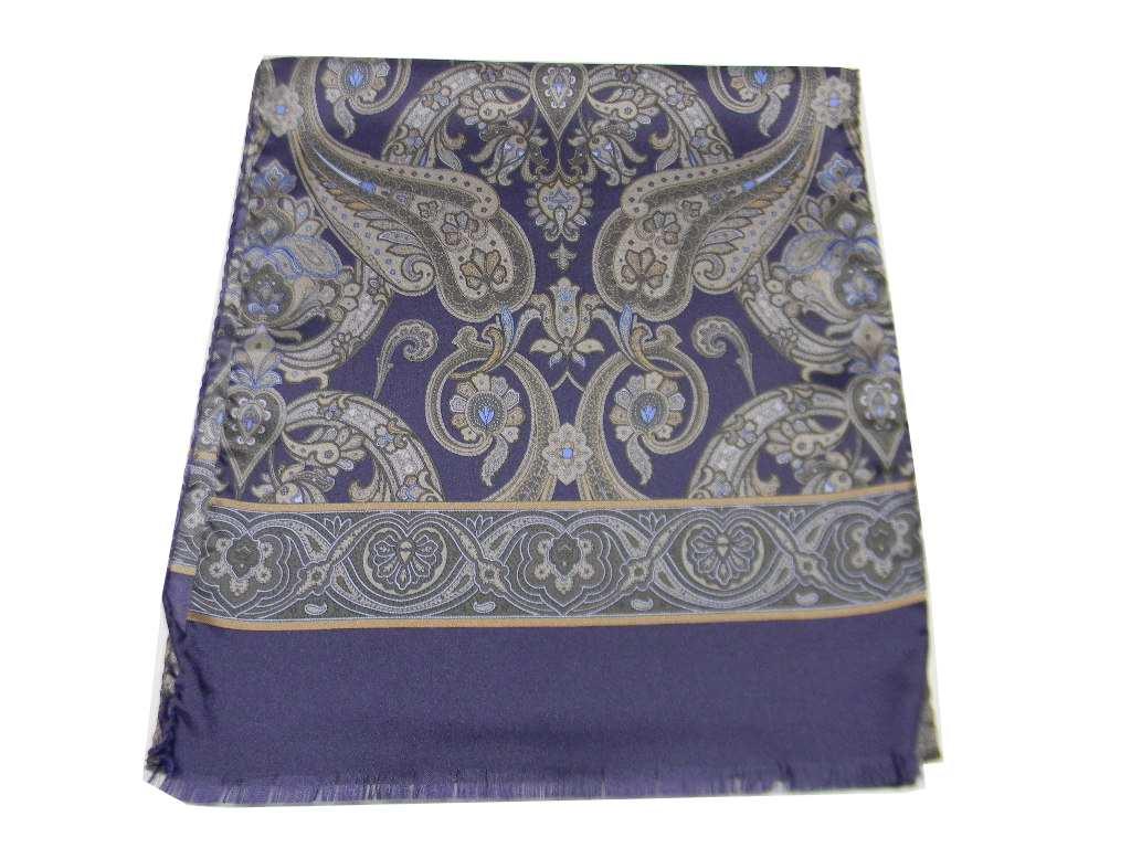 Sciarpa-blu-uomo-seta-stampata-disegni-cashmere-prodotto-italiano-long-cm-140