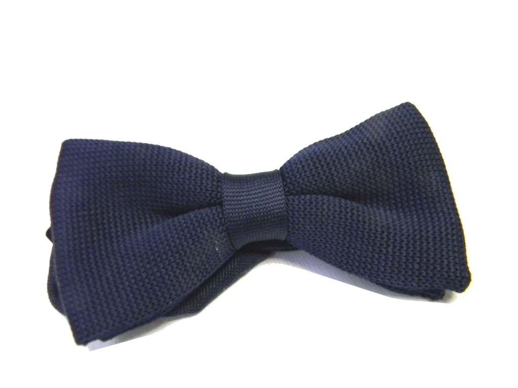 Papillon uomo blu in maglina fine trendy cravatta a farfalla in maglia blue