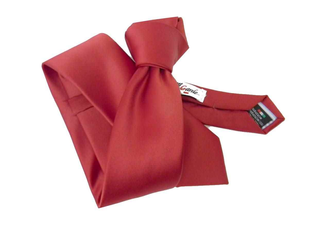 Bellissima cravatta rossa cravattino 6cm red skinny tie