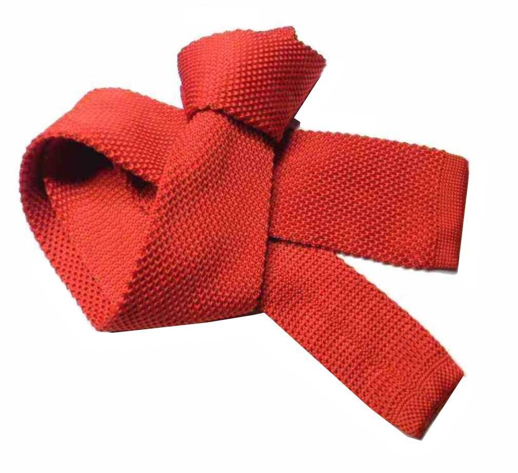 come comprare acquisto autentico grande vendita Dettagli su CRAVATTA Maglia uomo ROSSA TRICOT ROSSO tinta unita cravatte  rosse lavorate