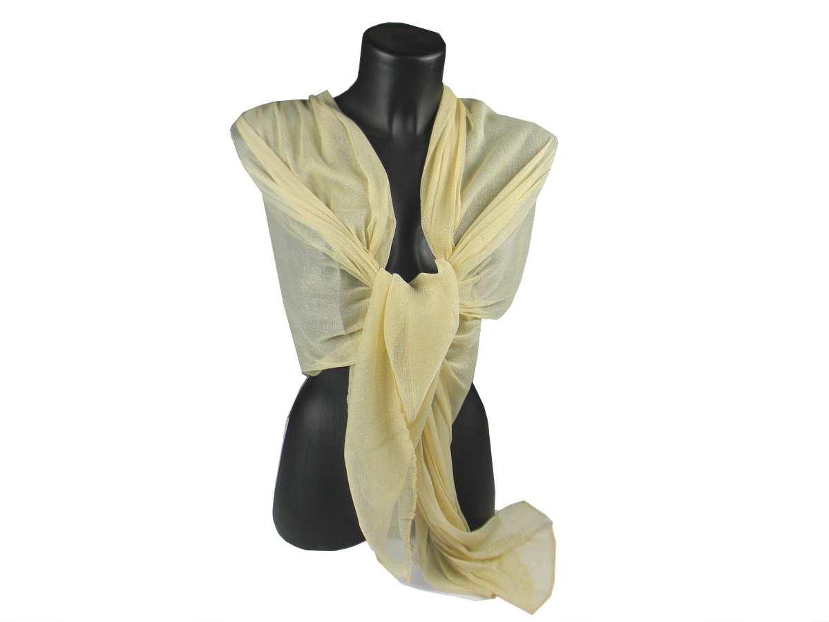 c323720a7925a4 Stola donna oro lurex sciarpa anche coprispalle cerimonia | eBay