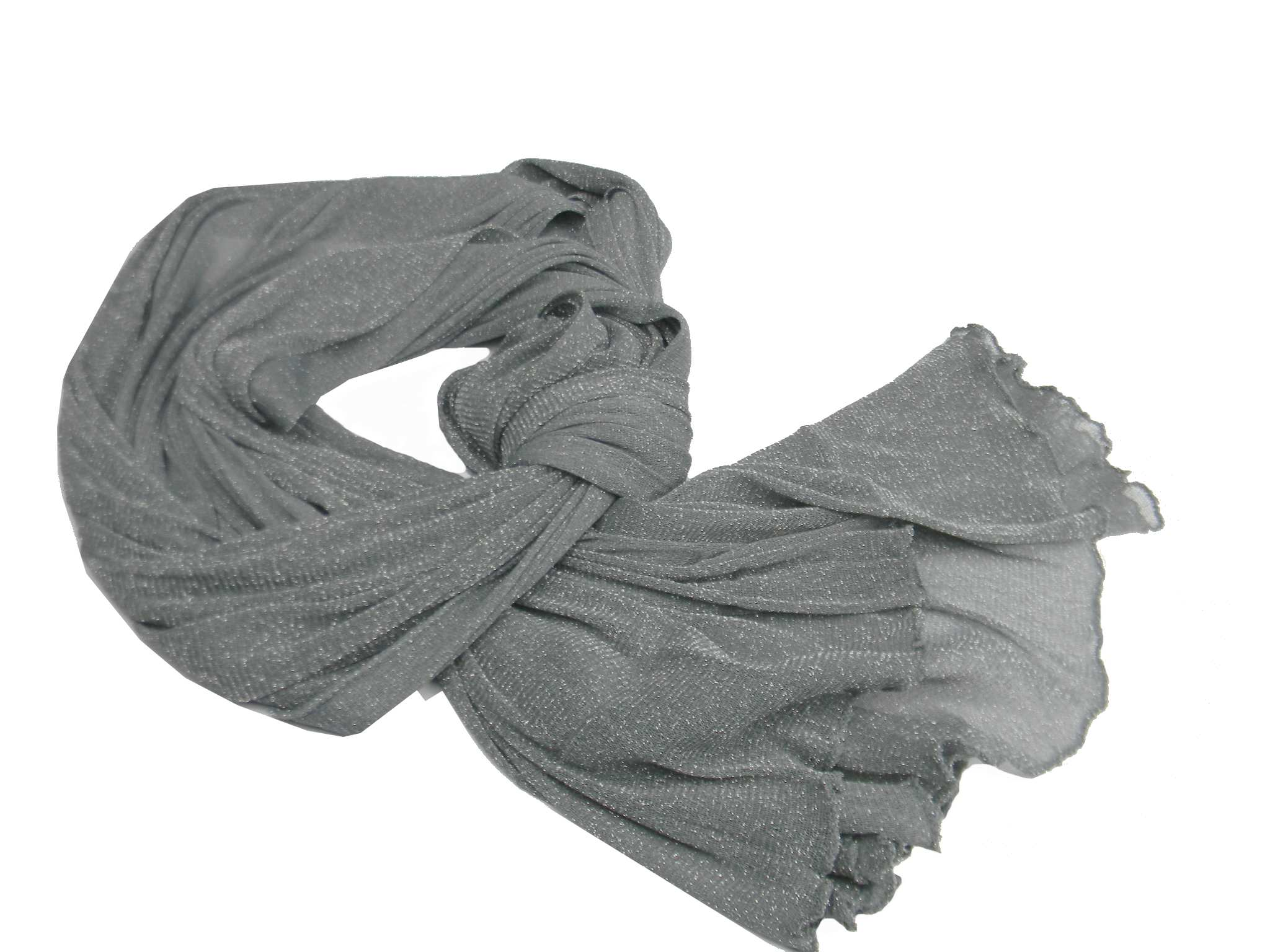 premium selection 67ea4 ad85c Dettagli su Scialle in maglina grigio lurex argento stola coprispalle donna  gala