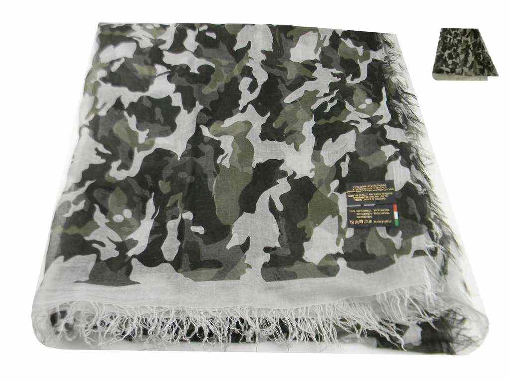 Foulard mimetico sciarpa camouflage mimetica vintage mode usa verde beige  fango a5eccc06471d