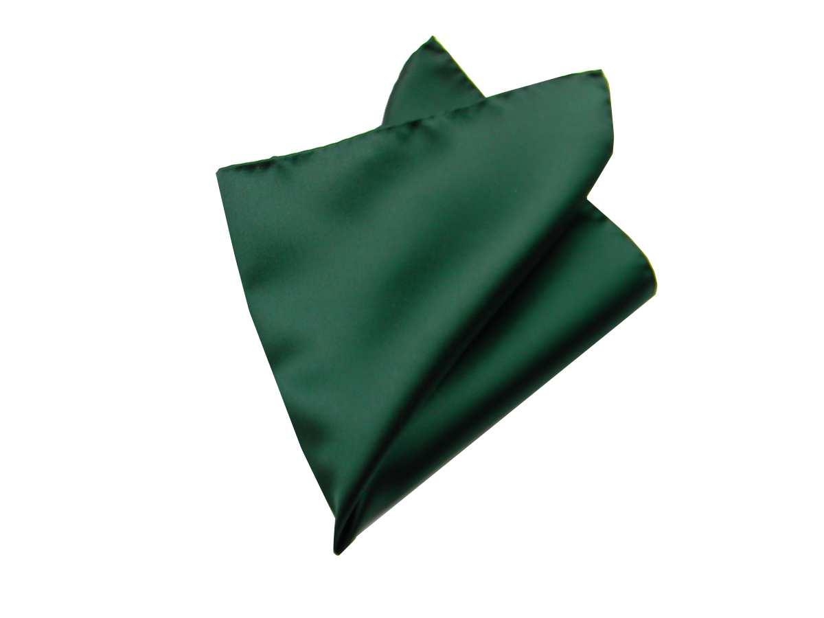 280ba24fd3 Fazzoletto uomo da taschino verde scuro pochette tinta unita in raso ...