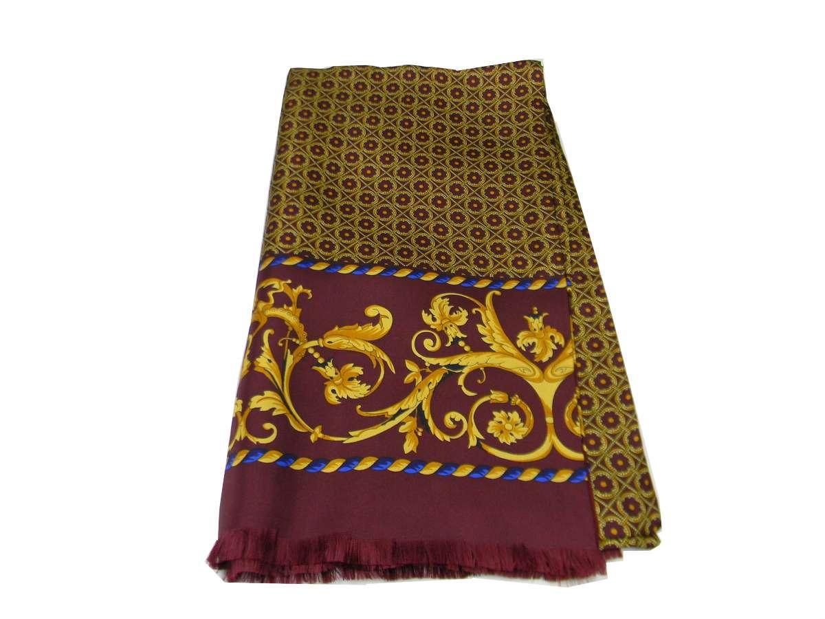 Man echarpe en laine soie bordeaux rouge silke wool scarf double ... 6c9b7102ea7