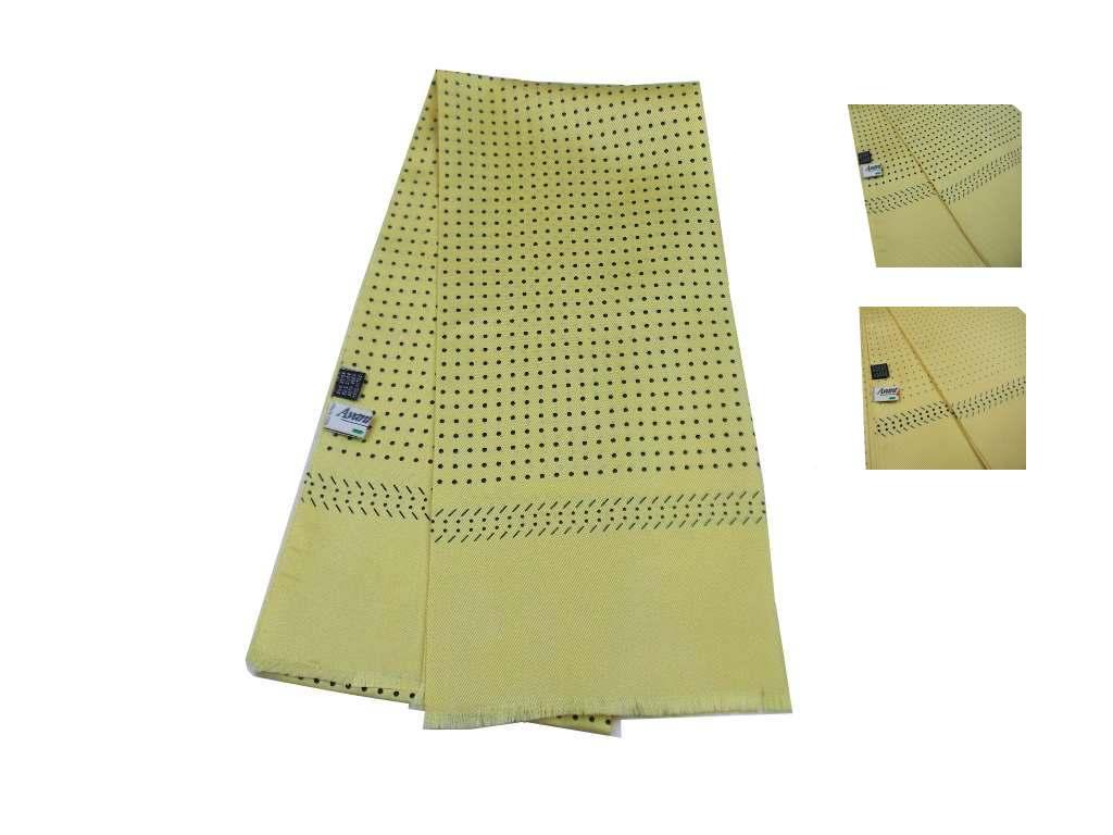 Caricamento dell immagine in corso Sciarpa-seta-uomo-tubolare -gialla-paglia-a-pois- 5cd6e80d0906