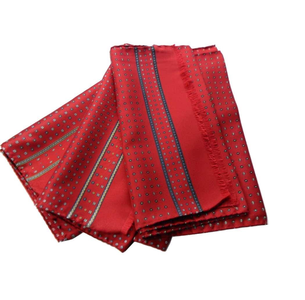 foto ufficiali 8cc36 6dfe2 Dettagli su Sciarpa seta uomo rossa man silk scarf 33 35 140 italy sciarpe  rosse con motivi