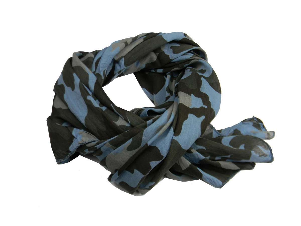 Foulard fanta mimetico kefia mimetica vintage usa camouflage azzurra beige  fango c02e95a19672
