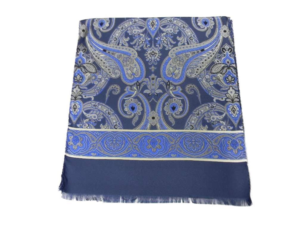 a basso prezzo 5a74b 5ce4b Dettagli su Sciarpa Seta Uomo motivo Cachemire in vari colori prodotto  italiano