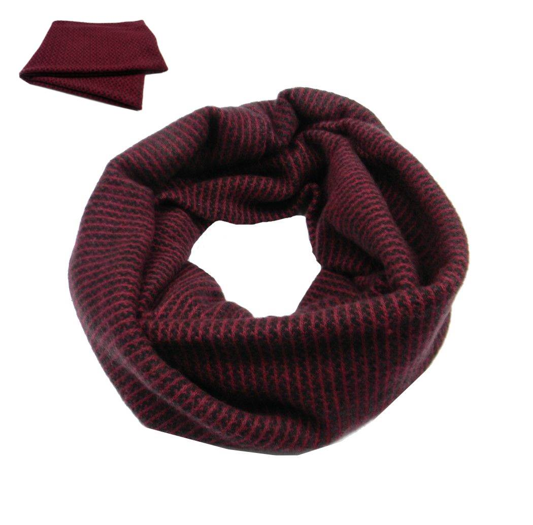 Scalda collo uomo donna bordeaux sciarpa calda in varie fantasie  3206cba07d2c