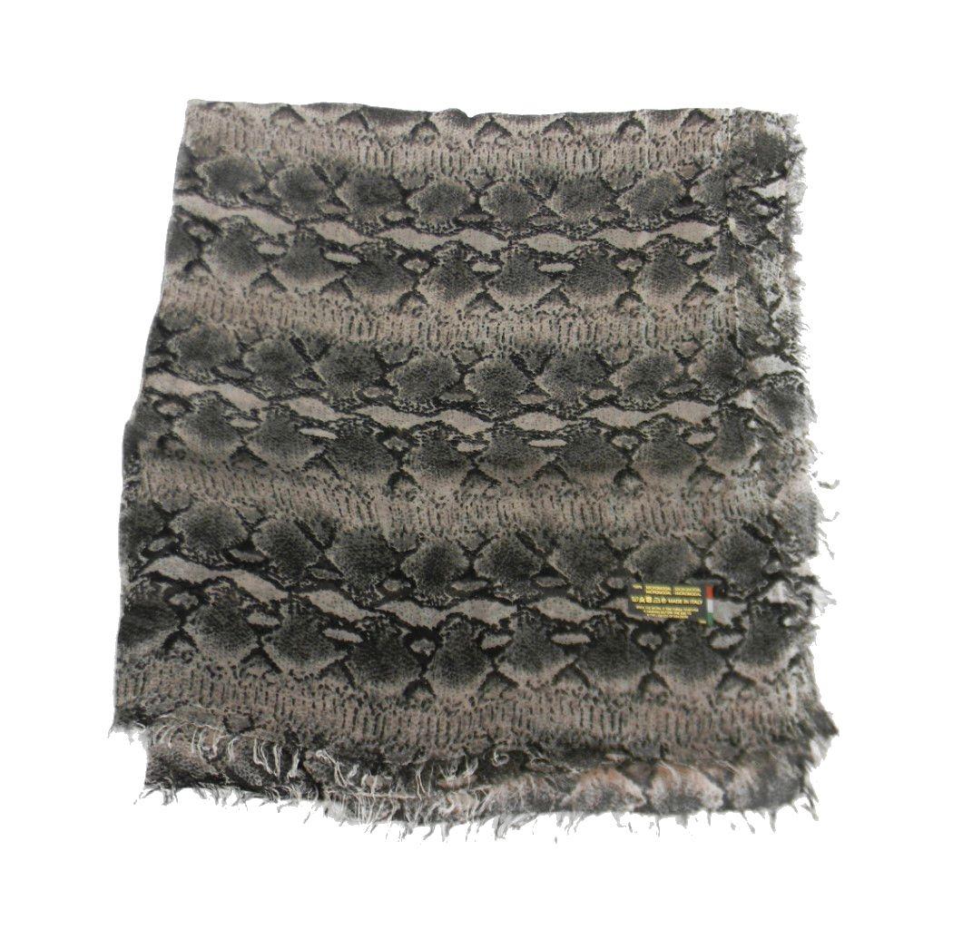 nuovo stile dfb76 9390f Dettagli su Sciarpa pelle di serpente grigia o rosa modal pashmina leggera