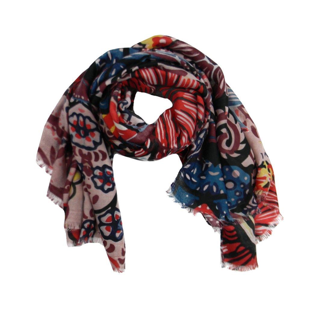 Nuovi Prodotti 1027e 5db1a Dettagli su Sciarpe rosse per donna pashmina rossa in tanti disegni a scelta