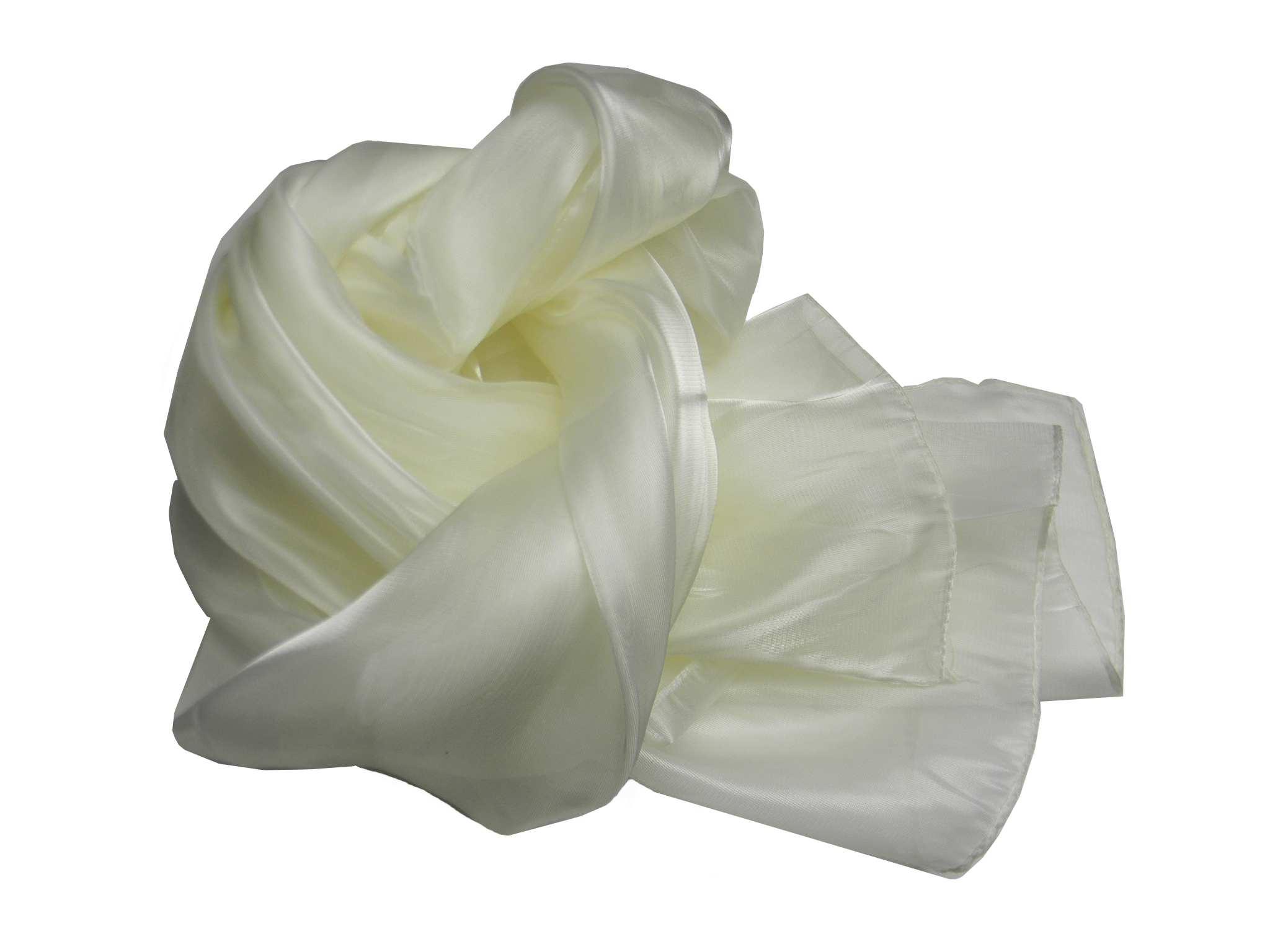 new style 0c55e c2df5 Stola donna bianco panna coprispalle in raso lucido seta da ...