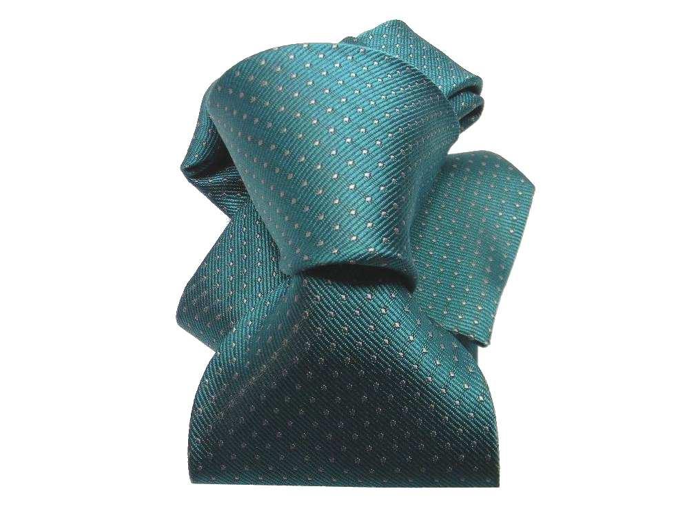 CRAVATTA-marrone-a-pois-Blu-NECKTIE-VERDE-Green-punta-a-spillo-BIANCO-puntini