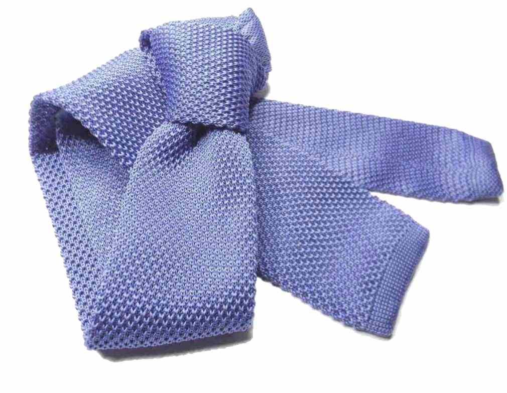 CRAVATTA-in-MAGLIA-tinta-unita-TRICOT-tanti-colori-blu-azzurra-rossa-grigia-nera