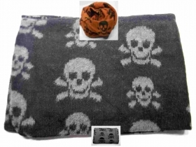 Sciarpa scaldacollo uo do punk teschi collo schal teschio skull scarf made Italy