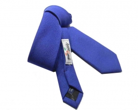 Cravatta blu royal cravattino lana wool skinny tie schmale krawatte made in ital