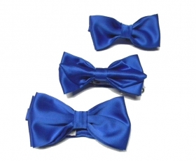 Papillon uomo blu royal poli made in italy cravatta farfalla varie misu bow-tie