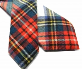 Cravatta lana uomo a quadri tartan bianco cravatte in lana english style m italy