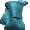 Cravatta tie seta silk stampata operata verde acqua green made in italy varie