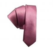 Cravatta rosa cravattino slim skinny tie fatto in italy