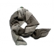 Foulard da collo degrade cotone uomo donna beige marrone