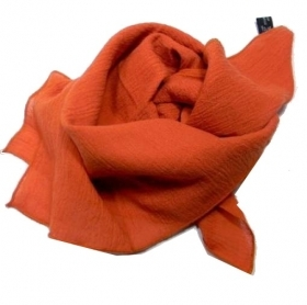 Foulard da collo uo doarancio ruggine made italy fazzoletto cotone alta qualita