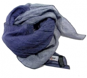 Foulard da collo degrade cotone uomo donna blu jeans made in italy cotone