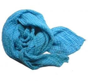 Foulard turchese fazzoletto da collo a quadretti uo do