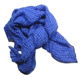 Bandana a quadri blu royal Fsa