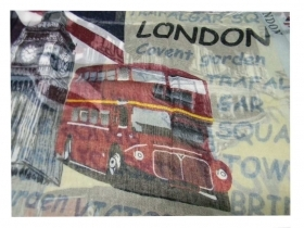 Sciarpa london style pashmina tower bridge bandiera inglese stampe bus londra